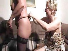 Cunnilingus, Granny, Lesbian, Mature