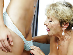 Lesbian, Mature, Old and Young, Granny, Saggy Tits