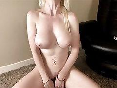 Babe, Blonde, Dildo, Big Tits