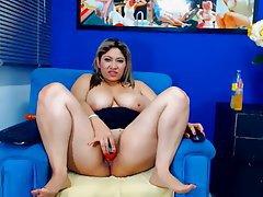 BBW, Big Boobs, Masturbation, Webcam