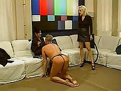 BDSM, Blonde, Femdom, Threesome, Brunette