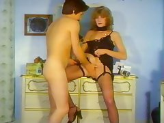 Cunnilingus, Facial, Small Tits, Stockings, Vintage