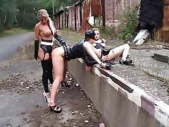 BDSM, Spanking, Outdoor, Latex