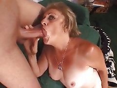 Big Boobs, Cumshot, Granny, Old and Young, Stockings