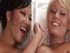 Asian, Babe, Blonde, Lesbian, Masturbation