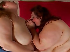 BBW, Lesbian, Masturbation, Strapon