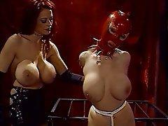 BDSM, Lesbian, Redhead, Femdom, Big Boobs