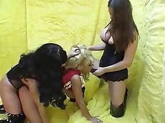 Cheerleader, Double Penetration, Lesbian, Strapon